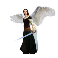 Angel with sword - png cutout by thatguyfromabove
