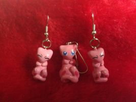 Mew Earrings and Charm by Sara121089