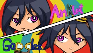 Anklet and Goggles by HoshinoDestiny