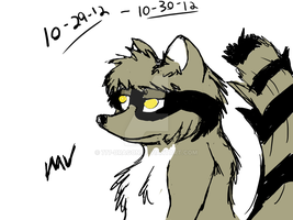 Raccoon Fursona by 777-Dragon