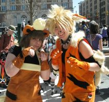Growlithe + Arcanine-Momo2011 by Risike