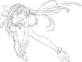 Air Gear - Ringo Lineart by simplyKia