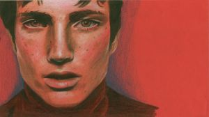 portait on red by cinnamonmints