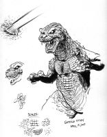 Sketch Page Godzilla by NickMockoviak