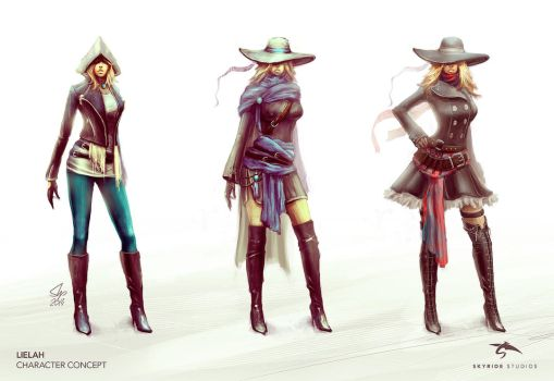 Lielah Character Concept by slipled