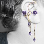 Purple ear wrap and cuff set v10- SOLD by YouniquelyChic