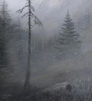 attempt of the misty mountain forest by andrekosslick