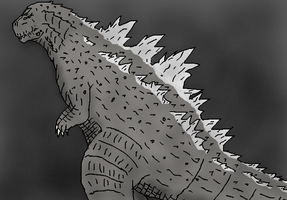 Requested Godzilla scale pic for KaijuMaster107 by TheSpiderAdventurer