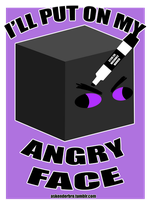 Enderbro's Angry Face Sticker by The-Greys