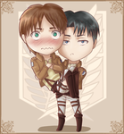 Eren and Levi Chibi by Amarfis