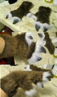 Reindeer gloves and resin hooves! by Crystumes