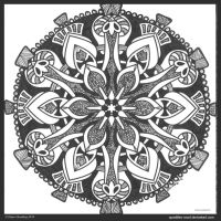 Charming Chant Mandala II by Quaddles-Roost