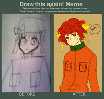 before and after meme by klonki