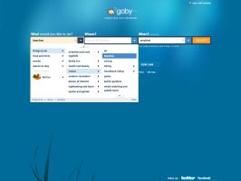 Goby.com Browse + Search Menu by therealgoby