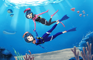 Commission: Mother and Daughter Under the Sea by QuantumJinx
