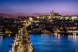 Night Prague by OrangeRoom