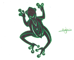 Tribal Frog by CR4ZY-CHR1S