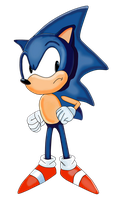 Sonic The hedgehog by Krizeii