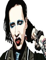 Marilyn Manson Pen work 5 by daylover1313
