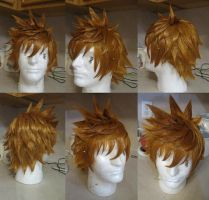 Roxas Wig Commission Progress by xHee-Heex
