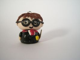 Harry Potter Clay Pendant by sweet-geek
