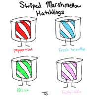 Striped Marshmellow Hatchling Bidding by TheDreamRunner