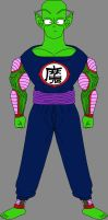 Barefoot Piccolo Jr. in King Piccolo's clothes by DragonBallFan2012