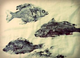 Gyotaku Prints by iloveramen88