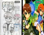 Then and now by darkfang100