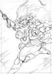 ANOTHER Spinnerette NSFW comic cover sketch! by chochi
