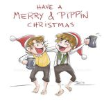 Merry and Pippin Xmas by Hyzave