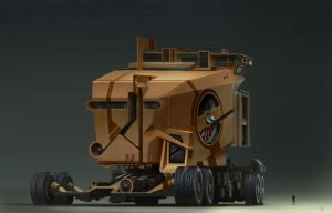 Giant Scifi Vehicle by dannygardner