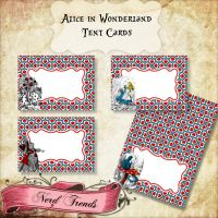 Alice in Wonderland Tent Cards by NerdTrends
