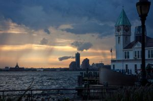 Calm before storm at Battery park by AshiMonster