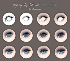 Step by step tutorial - eye coloring by MayeMaya