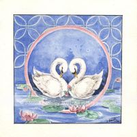 Swans Eternal Circle by JoannaBromley