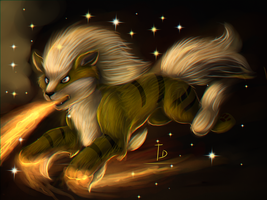 Shiny Arcanine by TigresaDaina