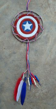 Captain America Dream Catcher by RebelATS