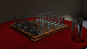 red velvet chessboard by KorruptNinja