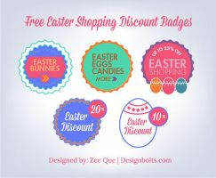Free Easter Shopping Discount Badges by Designbolts