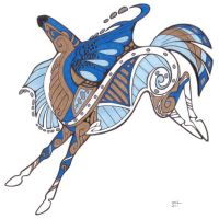 Tribal Horse - for starhorse by sketcherjak