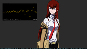 Makise Kurisu desktop by genessis