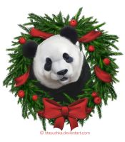 Panda Christmas by Stasushka