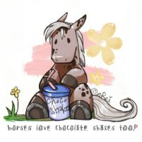 horses Love Chocolate. by evikted