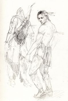 Sketch of Connor by WaleVale