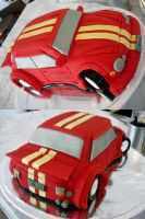 Red Sports Car Cake by Sliceofcake