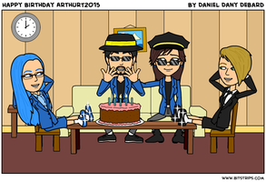 Happy birthday ArthurT2015 by Dany-Young