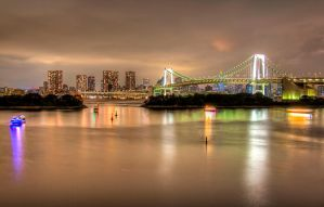 Odaiba At Night by duceduc
