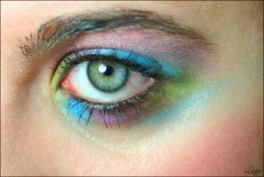 Colorfull Eyes girl by LiNoR