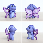 Poogle Faerie Polymer Clay Handmade by lyrese